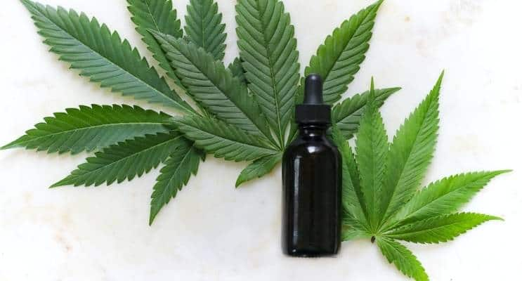 Cannabis Bottle Leaf
