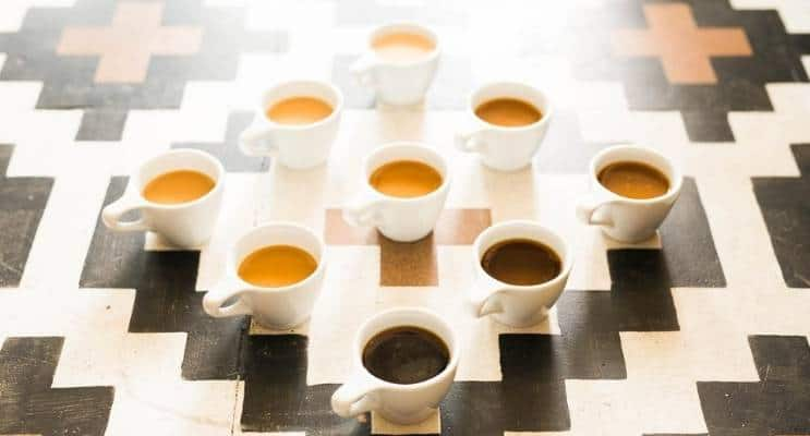 Coffee strengths