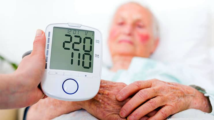 Patient with high blood pressure