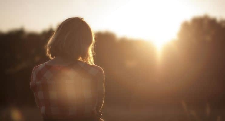 Sunset lady