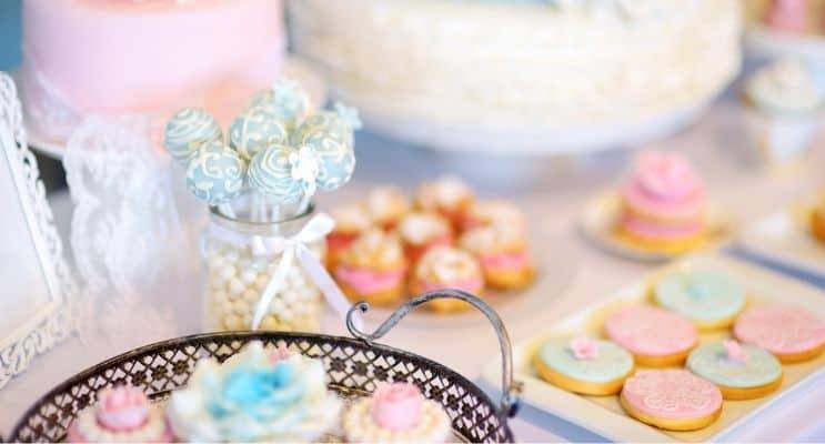 Sweets desserts display
